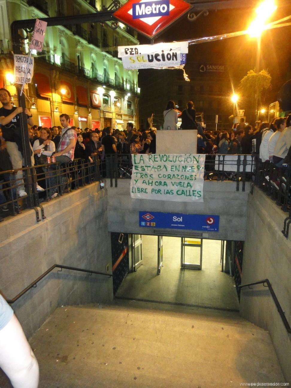 Foto de manifestacion en Madrid 15M