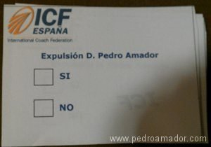 papeleta de la votacion vergonzosa - Personal apologies at the request of ICF global President