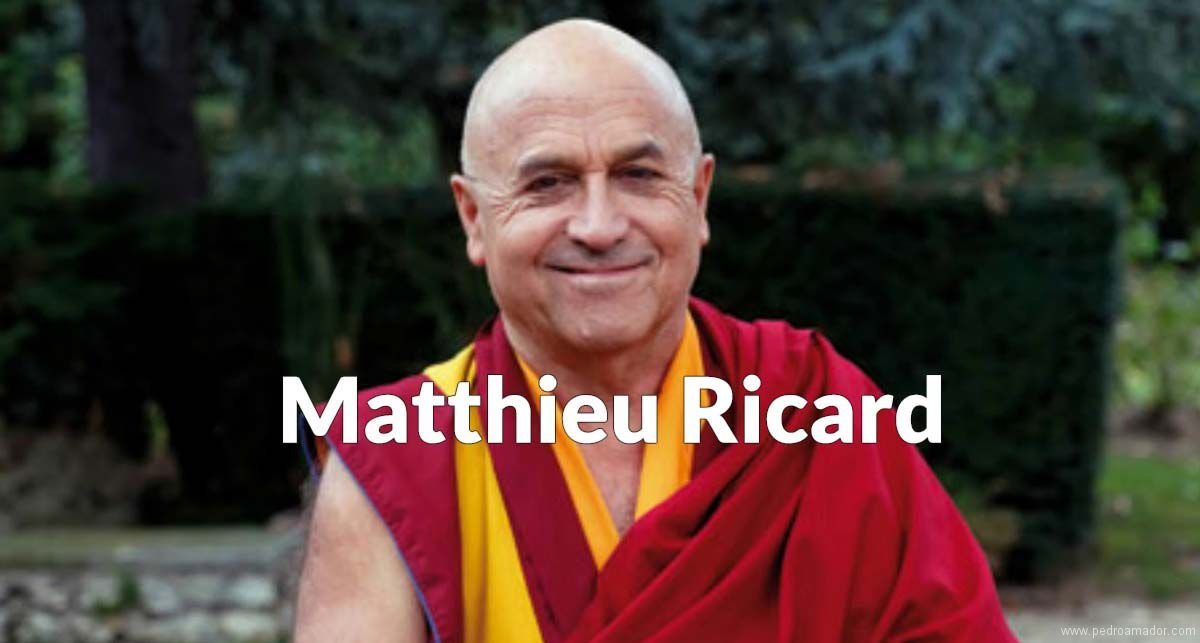 Matthieu Ricard feliz