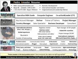 CV Pedro Amador