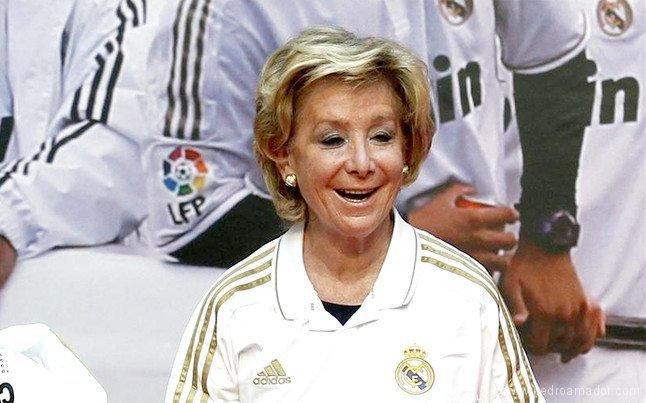 Esperanza Aguirre distrae con el fútbol
