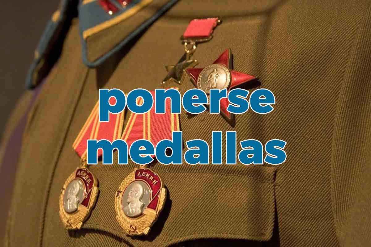 ponerse medallas