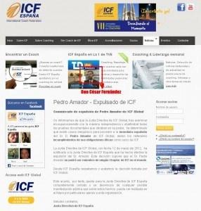 Comunicado de ICF España - César Fernández el peor presidente de ICF España