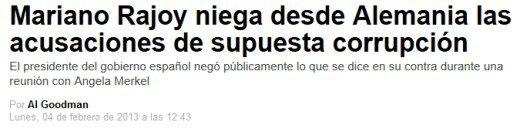 Mariano Rajoy niega