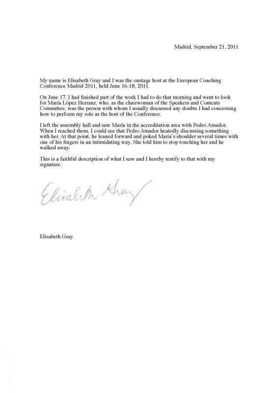 Elisabeth Gray's Declaration