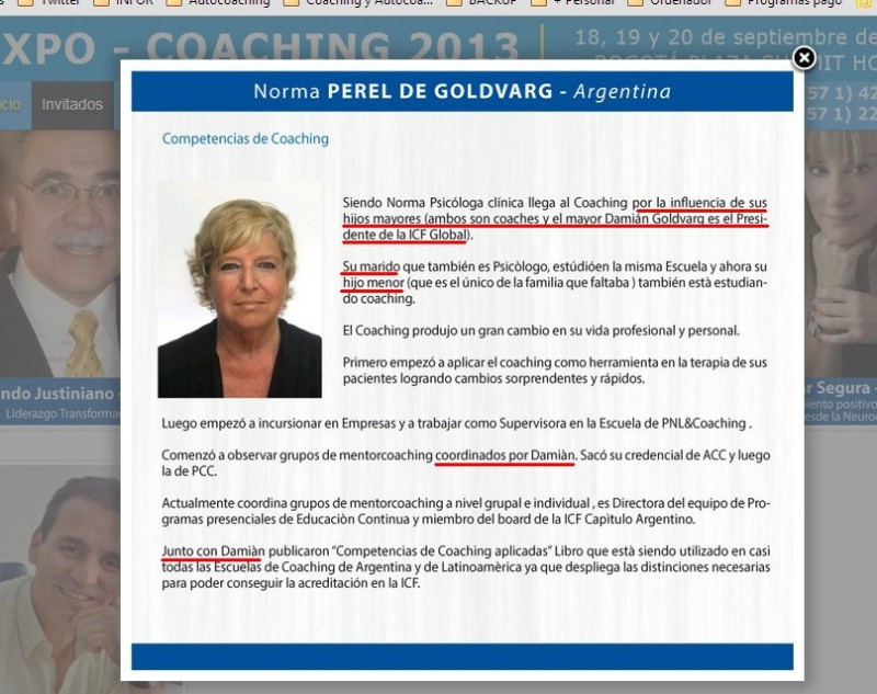 Expocoaching presenta a Lic.Norma Perel de Goldvarg