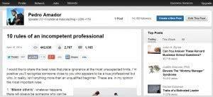 Linkedin mejor artículo a los tres días (pulse para ver en grande)