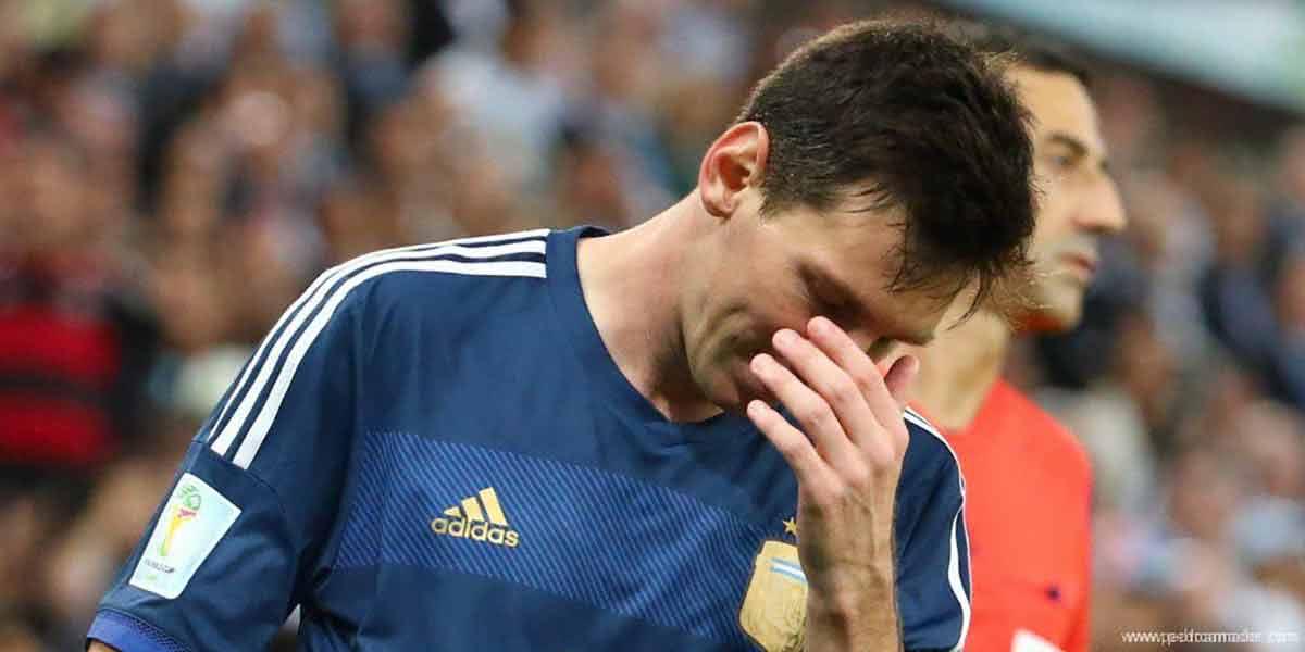 Leo Messi Argentina Alemania