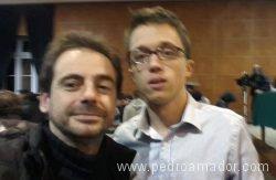Con Iñigo Errejon en Uruguay