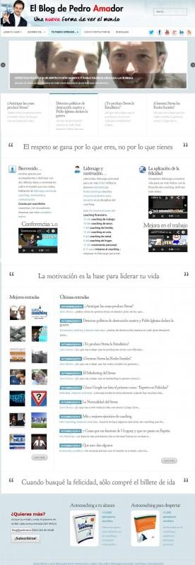 Diseño nuevo Home Page Pedro Amador