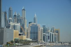 Dubai Marina view from Metro