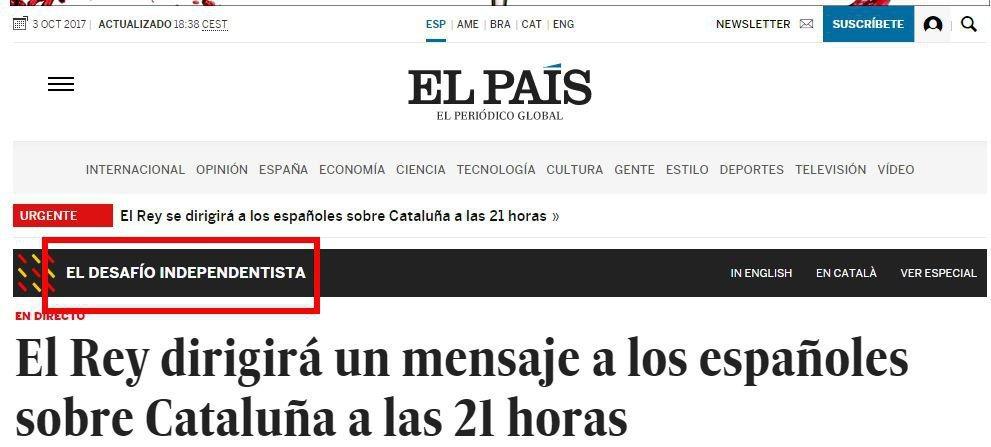 El País Desafío independentista