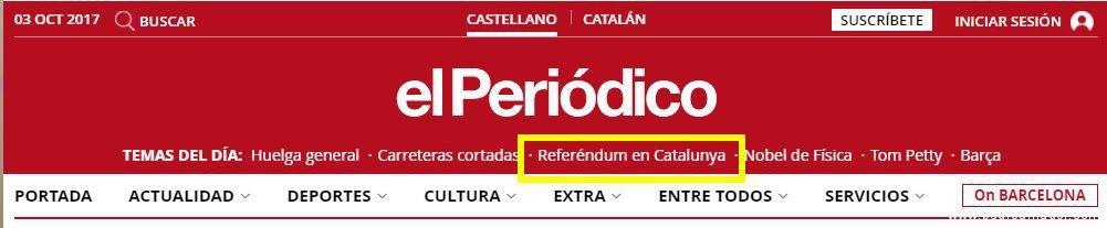 El Periódico Referedum - ¿Referendum o un Desafío a la Ley en Cataluña?