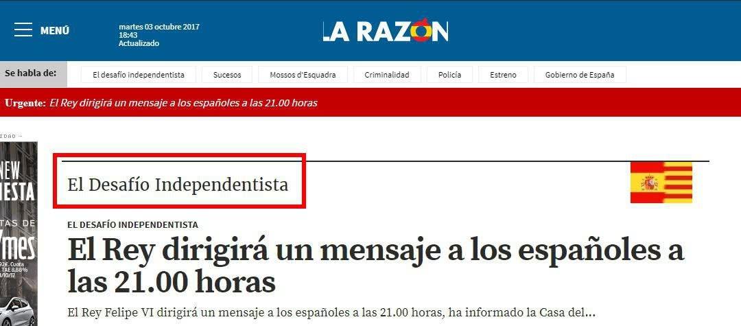 La Razón El Desafío Independentista - ¿Referendum o un Desafío a la Ley en Cataluña?
