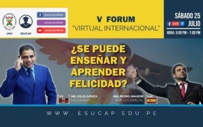 V Fórum Virtual Internacional - Conferencia en Perú