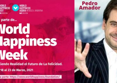 Conferencista por zoom en el World Happiness Week